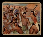 1949 Bowman Wild West #7 B  Indian Customs the War Whoop Front Thumbnail