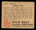 1949 Bowman Wild West #11 E  Range War Back Thumbnail