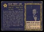 1953 Topps Who-Z-At Star #4  Allen Rocky Lane  Back Thumbnail
