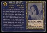 1953 Topps Who-Z-At Star #15  Scott Brady  Back Thumbnail
