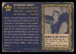 1953 Topps Who-Z-At Star #64  Spencer Tracy  Back Thumbnail