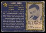 1953 Topps Who-Z-At Star #80  J Carrol Naish  Back Thumbnail