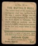 1933 Goudey Indian Gum #36  The Buffalo Bull   Back Thumbnail