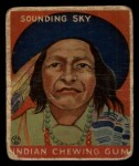 1933 Goudey Indian Gum #107  Sounding Sky   Front Thumbnail