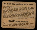 1939 Gum Inc. War News Pictures #73   British Flying Boats Rescue Crew of Steamer Back Thumbnail