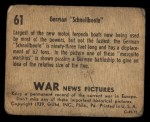 1939 Gum Inc. War News Pictures #61   German Schnellboote Back Thumbnail