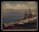 1939 Gum Inc. War News Pictures #62   British Battleship Rodney Front Thumbnail