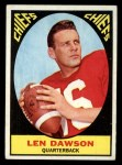 1967 Topps #61  Len Dawson  Front Thumbnail