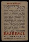 1951 Bowman #3  Robin Roberts  Back Thumbnail