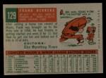 1959 Topps #129  Frank Herrera  Back Thumbnail