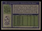 1972 Topps #197  Ed O'Bradovich  Back Thumbnail