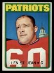 1972 Topps #23  Len St. Jean  Front Thumbnail