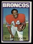 1972 Topps #50  Floyd Little  Front Thumbnail