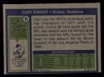1972 Topps #51  Curt Knight  Back Thumbnail