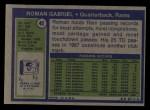 1972 Topps #40  Roman Gabriel  Back Thumbnail