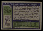 1972 Topps #219  Paul Robinson  Back Thumbnail