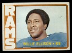 1972 Topps #62  Willie Ellison  Front Thumbnail
