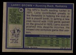 1972 Topps #95  Larry Brown  Back Thumbnail