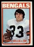 1972 Topps #99  Fred Willis  Front Thumbnail