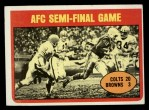1972 Topps #135   AFC Semi-Final Game Front Thumbnail