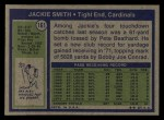 1972 Topps #161  Jackie Smith  Back Thumbnail
