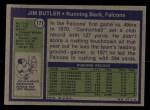 1972 Topps #171  Jim Butler  Back Thumbnail