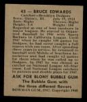 1948 Bowman #43  Bruce Edwards  Back Thumbnail