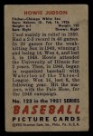 1951 Bowman #123  Howie Judson  Back Thumbnail