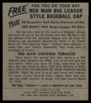 1954 Red Man #11 NL Warren Spahn  Back Thumbnail