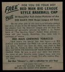 1954 Red Man #21 NL John Antonelli  Back Thumbnail