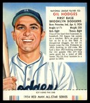 1954 Red Man #22 NL Gil Hodges  Front Thumbnail