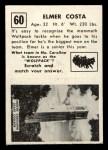 1951 Topps #60  Elmer Costa  Back Thumbnail