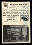 1951 Topps Magic #69  Arnold Burwitz  Back Thumbnail