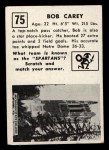 1951 Topps Magic #75  Bob Carey  Back Thumbnail