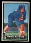 1951 Topps #66  Carroll McDonald  Front Thumbnail