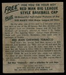 1954 Red Man #13 NL Roy Campanella  Back Thumbnail