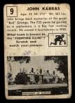 1951 Topps #9  John Karras  Back Thumbnail