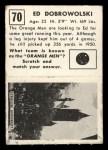 1951 Topps Magic #70  Ed Dobrowolski  Back Thumbnail