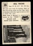 1951 Topps Magic #38  Bill Fuchs  Back Thumbnail