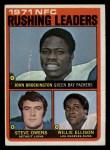 1972 Topps #2   -  John Brockington / Steve Owens / Willie Ellison NFC Rushing Leaders Front Thumbnail