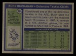 1972 Topps #204  Buck Buchanan  Back Thumbnail