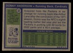 1972 Topps #32  Donny Anderson  Back Thumbnail