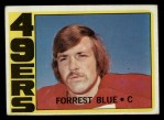 1972 Topps #38  Forrest Blue  Front Thumbnail