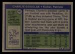 1972 Topps #44  Charlie Gogolak  Back Thumbnail