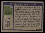 1972 Topps #58  Ken Bowman  Back Thumbnail