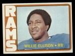 1972 Topps #62  Willie Ellison  Front Thumbnail