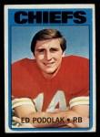 1972 Topps #82  Ed Podolak  Front Thumbnail