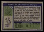 1972 Topps #89  Bob Babich  Back Thumbnail