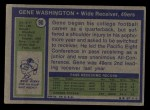 1972 Topps #90  Gene Washington  Back Thumbnail