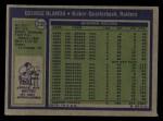 1972 Topps #235  George Blanda  Back Thumbnail